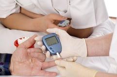 Blood sugar test. Royalty Free Stock Photos