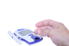 Blood Sugar test Royalty Free Stock Photography