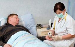 Blood sugar test royalty free stock image