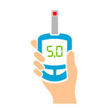 Blood sugar tester vector icon Royalty Free Stock Photography