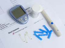 Blood sugar testing Royalty Free Stock Photography