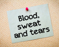 Blood, sweat and tears Stock Photos
