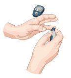 Blood test. Illustration on white Royalty Free Stock Photo