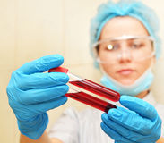 Blood test background Royalty Free Stock Photo