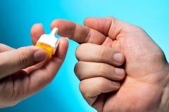 Blood test, blood sample