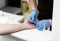 Blood test - Health care and medicine theme Royalty Free Stock Image