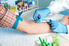 Blood test Stock Photo