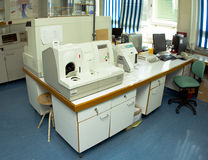 Blood test machine royalty free stock photography