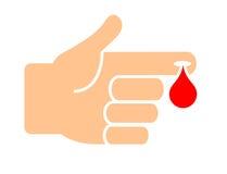 Blood test medical vector icon. Blood finger test medical vector icon Stock Images