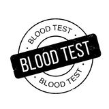 Blood Test rubber stamp Stock Images