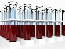 Blood Test tubes Stock Photo
