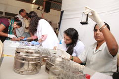 Blood testing laboratory Stock Image