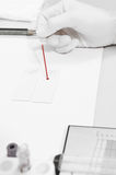 Blood testing in laboratory Stock Photos