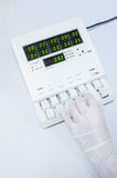 Blood testing machine Royalty Free Stock Photography