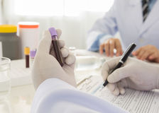Blood tests Stock Images