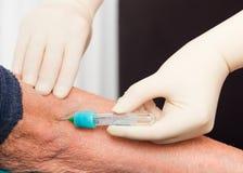 Blood Tests for Elderly Stock Image