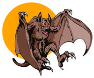 Blood thirsty flying creature. Vector art of a Blood thirsty Flying creature Stock Images