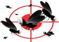 Blood thirsty mosquitoes Royalty Free Stock Image