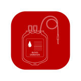 Blood Transfer Bag Icon. World Donor Day. Royalty Free Stock Images