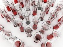 Blood tubes Stock Photo