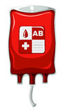 Blood type AB in plastic bag Stock Images