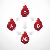 Blood type compatibility. Simple diagram of blood type compatibility Royalty Free Stock Photography