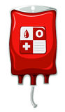 Blood type O in medical bag Royalty Free Stock Photography