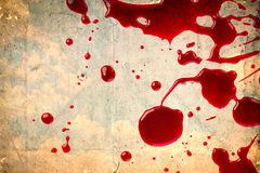Blood on vintage paper Stock Photography