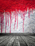 Blood on wall Royalty Free Stock Photos