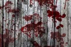 Blood on a wooden background Royalty Free Stock Photography