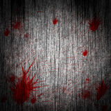 Blood on a wooden wall Stock Photo