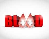 Blood and word illustration design Stock Photography