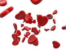 bloodcells предпосылки белые Стоковое фото RF