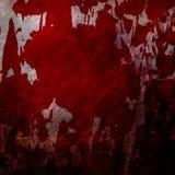 Τοίχος Bloodied grunge Στοκ Φωτογραφίες