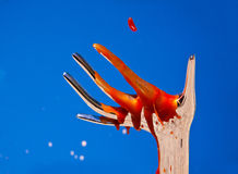Bloodied Hand Surreal. Surreal image of a mock up bloodied hand Royalty Free Stock Image