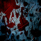 Bloodied wall royalty free stock images
