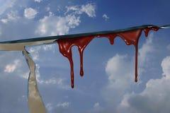 blooding的天空 免版税库存照片