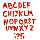 Bloodly alfabet Royaltyfri Bild