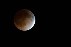 Bloodmoon lunar eclipse Royalty Free Stock Photos