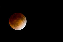 Bloodmoon lunar eclipse Stock Photos