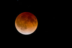 Stunning Bloodmoon lunar eclipse Stock Photography