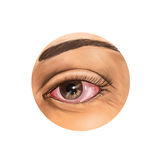 Bloodshot глаз Стоковые Изображения RF