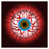 Bloodshot eye bloody eyeball Stock Images