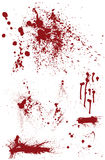 Bloodstain set Fotografia Royalty Free
