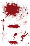 Bloodstain Set Royalty Free Stock Photos