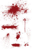 Bloodstain Set Stock Photography