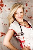 Bloodstained Sadistic Nurse Royalty Free Stock Image