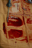 Bloodstains on the oilcloth Royalty Free Stock Images
