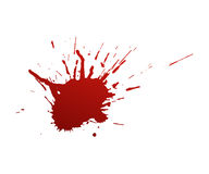 Bloodstains on a white background Stock Photos