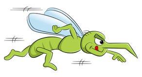 Bloodthirsty cartoon mosquito Stock Image